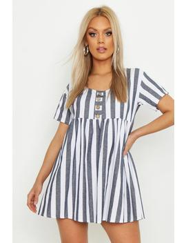 Plus Striped Smock Dress by Boohoo