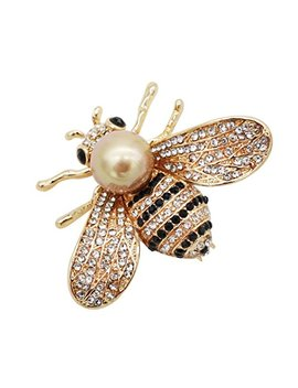 Zuozuoya Lovely Honey Bee Brooch – 3 Colors Insect Themes With Gold,Silver And Yellow Tone Brooch Pins   Fashion Mother Of Pearl Brooch Pins   Great For Wife,Sisters And Friends by Zuozuoya