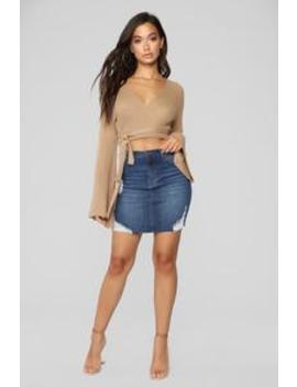Dayanna Denim Skirt   Dark Wash by Fashion Nova