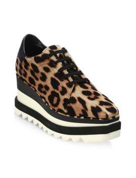 Leopard Platform Oxfords by Stella Mc Cartney