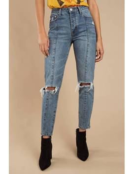 Millbury Vintage Wash High Rise Girlfriend Jeans by Tobi