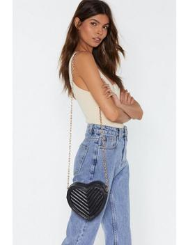 Heart Quilted Structured Cross Body Bag by Nasty Gal