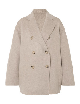 Odine Double Breasted Wool And Cashmere Blend Coat by Acne Studios