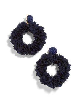 Camellia Floral Hoop Drop Earrings by Baublebar