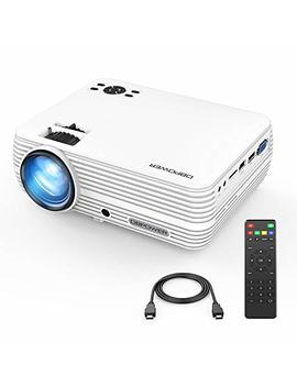 Mini Projector, Dbpower Portable Projector 2400 Lumens 50,000 Hours Led Full Hd 1080 P Support Video Projector, Compatible With I Phone, Ipad,Av, Usb, Sd, Amazon Fire Tv Stick by Dbpower