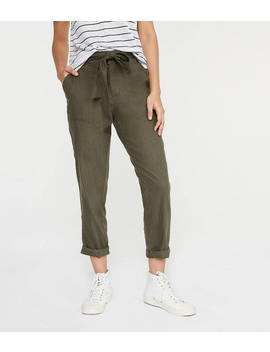 Lou &Amp; Grey Softstretch Linen Tie Waist Pants by Loft