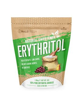 Erythritol Sweetener Natural Sugar Substitute 3lb   Granulated Low Calorie Sweetener High Digestive Tolerance Suitable For Diabetes Keto And Paleo   Baking Substitute Non Gmo by Halefresh