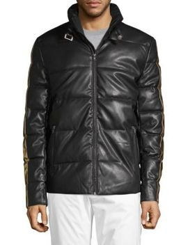 Quilted Faux Leather Jacket by American Stitch