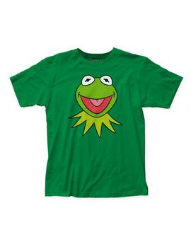 The Muppets Kermit Face Soft Fitted 30/1 Cotton Tee (Mup04) Kelly Green by Etsy