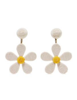 Daisy Cord Clip Earrings by Rebecca De Ravenel