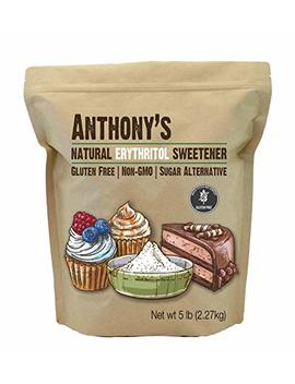 Erythritol Granules (5lbs) By Anthony's, Non Gmo, Natural Sweetener, Keto & Paleo Friendly by Anthony's
