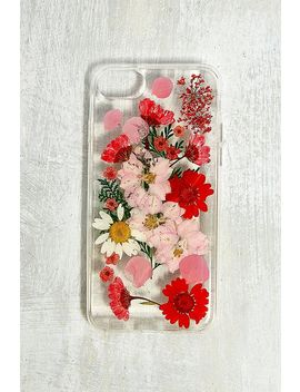 Red Pressed Flowers I Phone 6/6s/7/8 Case by Urban Outfitters