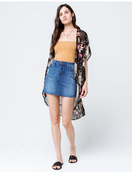 Polly & Esther Floral Black Womens Kimono by Tilly's