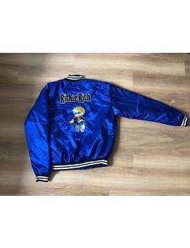 Men Custom Silk Blue Cartoon Richie Rich Flight Bomber Jacket Coat Windbreaker by Etsy