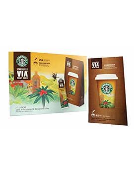 Starbucks Coffee Via Ready Brew Instant Colombian Coffee 24 Sachets Medium by Starbucks