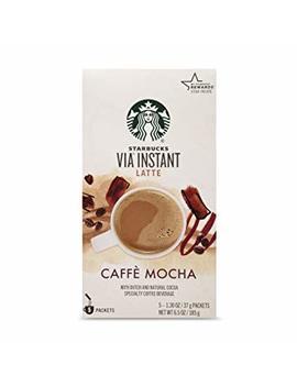 Starbucks Via Latte   Caffe Mocha (5 Single Serve Packets) Net Weight 6.53 Oz (185g) By Starbucks [Foods] by Starbucks