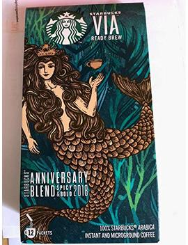 Starbucks Anniversary Blend 2018   Spicy & Bold Instant Coffee, 12 Sachets by Starbucks