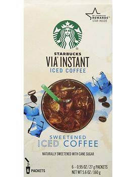 Starbucks Via Instant Iced Coffee   6 Packets, 27gram Each by Starbucks