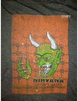 Very Rare Vintage Nirvana Pearl Jam Live At Cow Palace 1991 | Official Tour Tee | Wolfgang Vault | Usa | L by Etsy