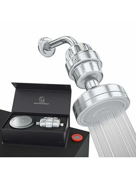 Luxury Filtered Shower Head Set 15 Stage Shower Filter For Hard Water Removes Chlorine And Harmful Substances   Showerhead Filter High Output by Aqua Home Group