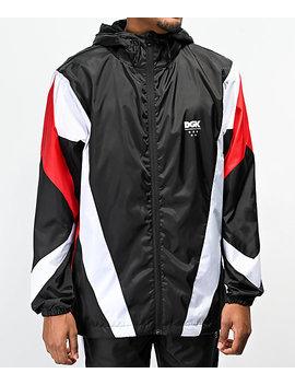 Dgk Mirage Black, Red &Amp; White Windbreaker Jacket by Dgk