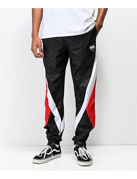 Dgk Mirage Swishy Black &Amp; Red Track Pants by Dgk