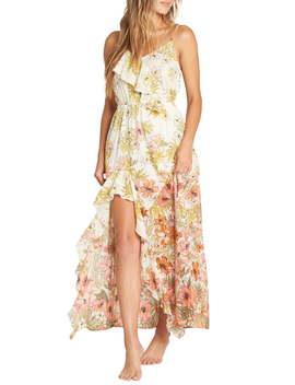 Hot Nights Floral Print Maxi Dress by Billabong