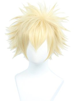 Linfairy Anime Cosplay Wig Short Blonde Hair Halloween Costume Full Wig by Linfairy