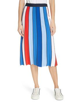 Stripe Tech Knit Skirt by Tory Sport