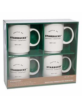 Starbucks Coffee Company Ceramic Coffee Mugs, 4 Pack, 404ml, 14oz by Starbucks