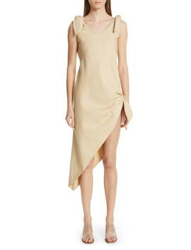 Dehlila Asymmetrical Cotton & Linen Dress by Cult Gaia