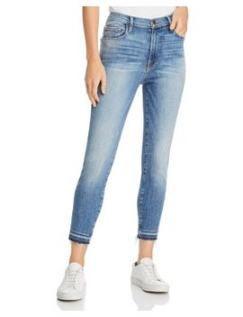 Ali High Rise Skinny Cropped Cigarette Jeans In Stoney by Frame