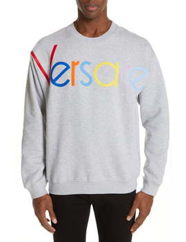 Multicolor Logo Appliqué Sweatshirt by Versace