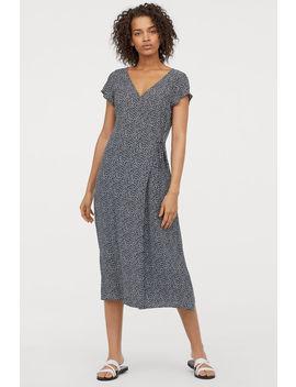 Kopertowa Sukienka Do łydki by H&M