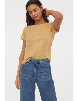 T Shirt Aus Leinen by H&M