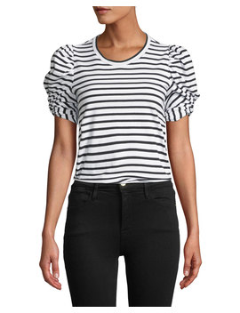 Kati Striped Puff Sleeve Crewneck Tee by A.L.C.