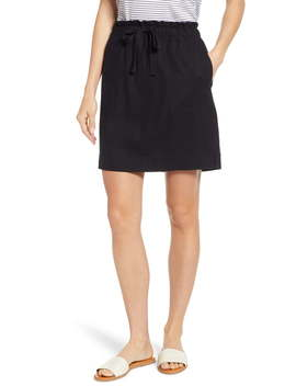 Paperbag Waist Linen Blend Skirt by Caslon®