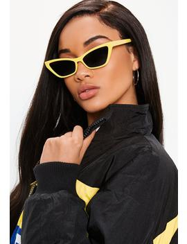yellow-cat-eye-sunglasses by missguided
