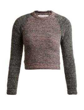Raglan Sleeve Alpaca Blend Cropped Sweater by Eckhaus Latta