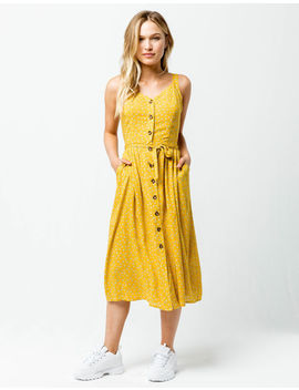 Coco & Jaimeson Tie Front Midi Dress by Tilly's