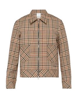 Checked Single Breasted Cotton Jacket by Deveaux