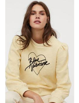 Sweatshirt Mit Flockprint by H&M