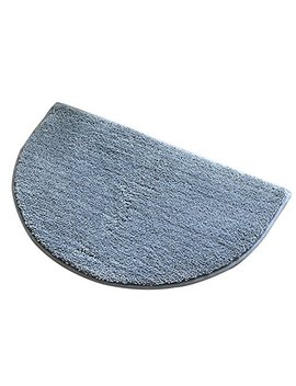 Olpchee Pure Color Half Round Non Slip Doormat Floor Mat Entrance Rug Kitchen Bathroom Bedroom Toilet Keeps Your Floors Clean (Large, Gray) by Olpchee