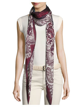 Luci Al Lake Palace Cashmere & Silk Scarf by Loro Piana