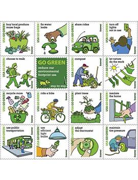2011 Go Green Sheet Of Sixteen Forever Stamps Scott 4524 By Usps by Usps