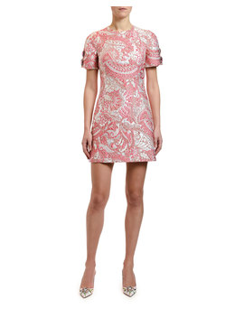 Short Sleeve Jacquard Dress by Dolce & Gabbana