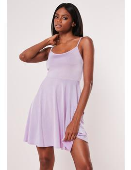 Lilac Cami Disco Skater Dress by Missguided