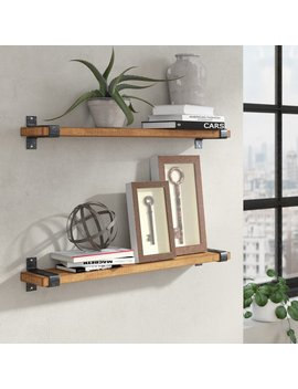 Treyvon Industrial Grace Wall Shelf by Three Posts