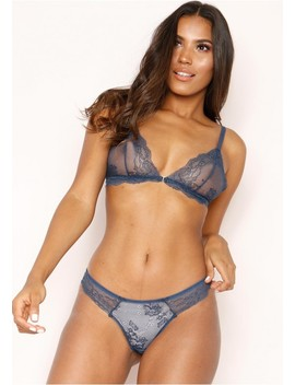 Laurie Navy Lace Lingerie Set by Missy Empire
