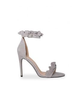 Alex Grey Ruffle Strap Heel by Missy Empire